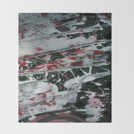 Black Pearl Abstract Throw Blanket