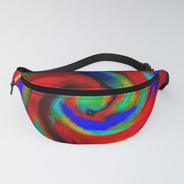 Red Blue Green Fireball Sky Explosion Fanny Pack