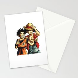 Monkey D. Luffy and Son Goku Stationery Cards