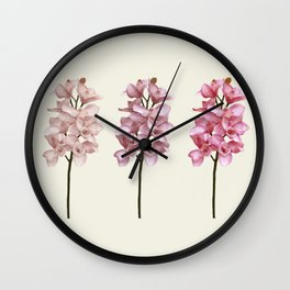 Three tones orchids Wall Clock