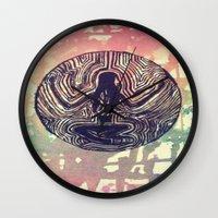 psych Wall Clocks featuring Psych Trap by ArtAngel