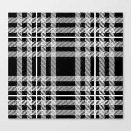 Black and White Plaid Canvas Print