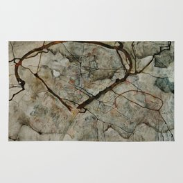 "Egon Schiele ""Autumn Tree in Stirred Air (Winter Tree)"" Rug"