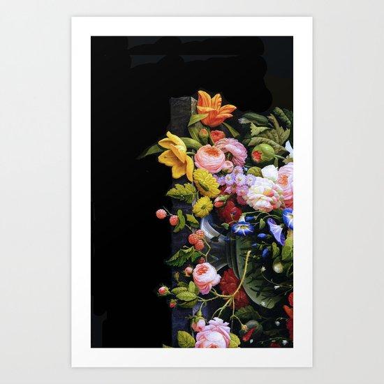 Victorian Flowers&Fruits Art Print