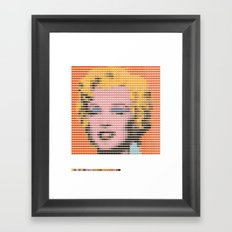 Pantone as pixel Marilyn Framed Art Print