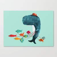 fish Canvas Prints featuring My Pet Fish by Picomodi