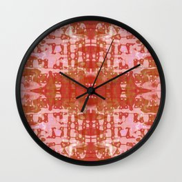 Red Tie Dye Jacobs Ladder Wall Clock