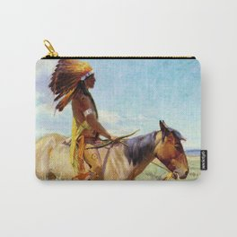 """""""The Chief"""" Western Art by W Herbert Dunton Carry-All Pouch"""