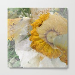 RAIN FLOWER Metal Print