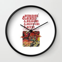 dungeons and dragons red Wall Clock