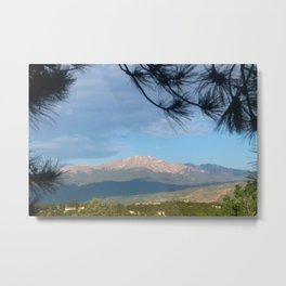 Pikes Peak In The Morning Metal Print