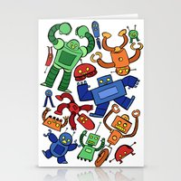 robots Stationery Cards featuring Robots by Sara Goetter