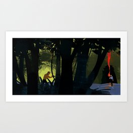 #1 Where No Man Has Gone Before - Beyond the forest into the cave Art Print