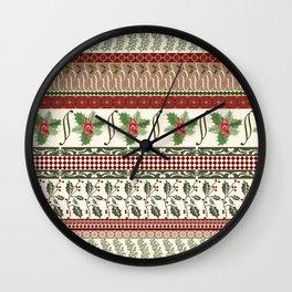 Mistletoe Ugly Sweater Wall Clock