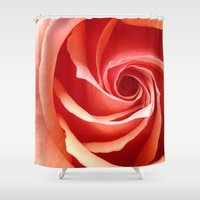 aperture Shower Curtains featuring Rose Aperture by Lita Mikrut