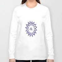 ohm Long Sleeve T-shirts featuring Ohm Flower by Michelle_