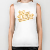 san diego Biker Tanks featuring San Diego by GetSolidGold