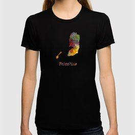 Palestine in watercolor T-shirt