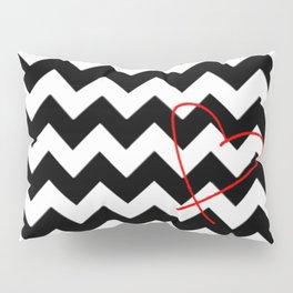 CHEVRON&HEART Pillow Sham