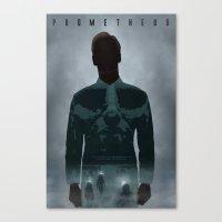 prometheus Canvas Prints featuring Prometheus by Luke Eckstein