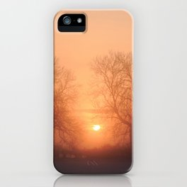 Misty Isle Sunset iPhone Case
