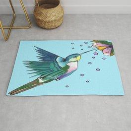 Hummingbird Blue Rug