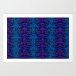 Blue pillars ... Art Print