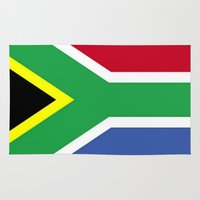 south africa Area & Throw Rugs featuring South Africa Flag (1994) by Barrier _S_D