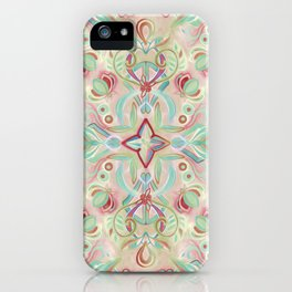 Soft Marsala and Sage Pattern iPhone Case