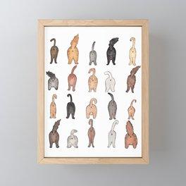 Cat butts Framed Mini Art Print