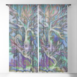 Tree of Life 2017 Sheer Curtain