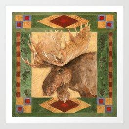 Lodge Moose Art Print