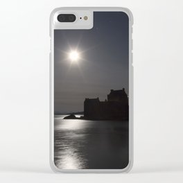 Eilean Donan Castle by Moonlight Clear iPhone Case