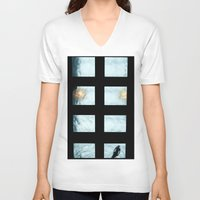 pool V-neck T-shirts featuring Ceiling pool by nast
