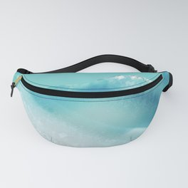 Geode Crystal Turquoise Blue Fanny Pack