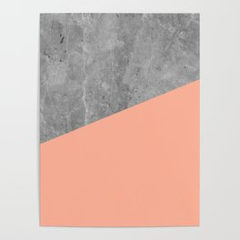 Geometry 101 Sweet Peach Pink Poster