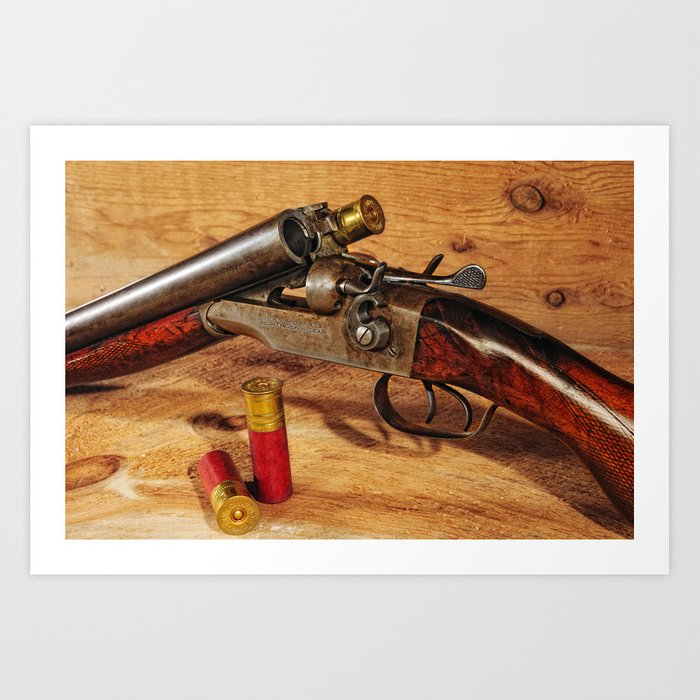 Old Double Barrel Stevens Art Print by captiveimagesphotography