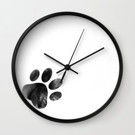 Cat's footprint Wall Clock