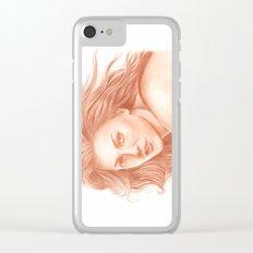 Woman Portrait 3 Clear iPhone Case