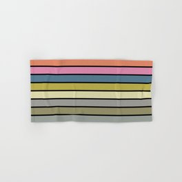 Multi Colored Stripes abstract pattern #society6 #decor #buyart #artprint Hand & Bath Towel