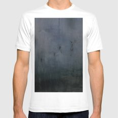 Landscape White Mens Fitted Tee MEDIUM