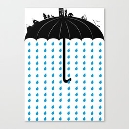 You can't hide, when it rains Canvas Print