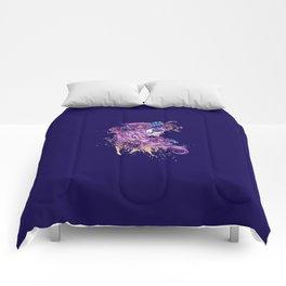 Purple sugar skull Comforters