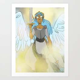 Fighter Angel Art Print