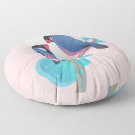 Java sparrows Floor Pillow