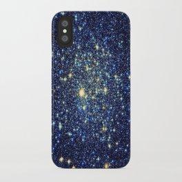 galaxY Stars : Midnight Blue & Gold iPhone Case