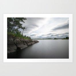 Boundary Waters Gabbro Lake Art Print