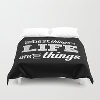 quotes Duvet Covers featuring Life Quotes by Silvia Marquez