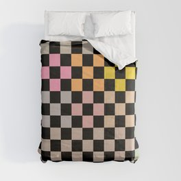 Pastel Colors Checkerboard Comforters