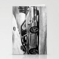 porsche Stationery Cards featuring Porsche  by Marcela Caraballo